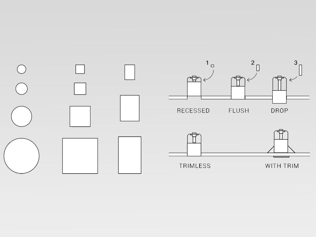 Fisher Lighting and Controls Reggiani Trybeca LED System Elegance Minimalism Performance