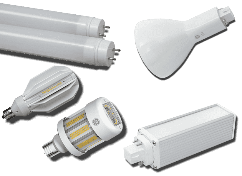Fisher Lighting and Controls GE Current General Electric Lamps and Ballasts LED HID Metal Halide CFL T8 Replacement Lamps
